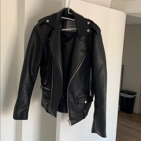 9ac023d8 Zara Jackets & Coats | Mens Faux Leather Jacket | Poshmark